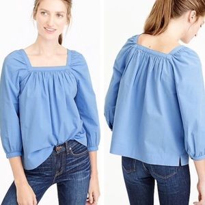 J. Crew Penny Peasant Style Square Neck Blouse